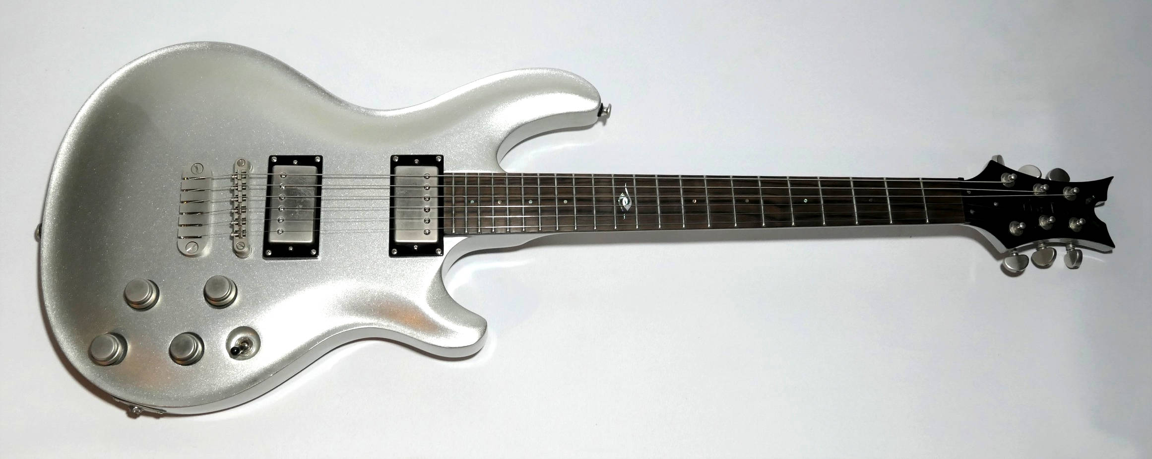 E-Gitarre DEAN Hardtail silver sparkle