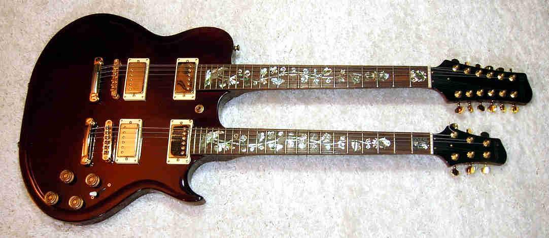 E-Gitarre DIMAVERY Doubleneck