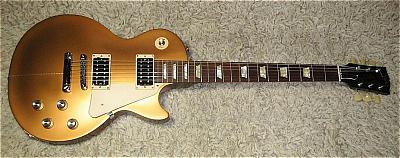E-Gitarre GIBSON Les Paul Studio Goldtop Darkback