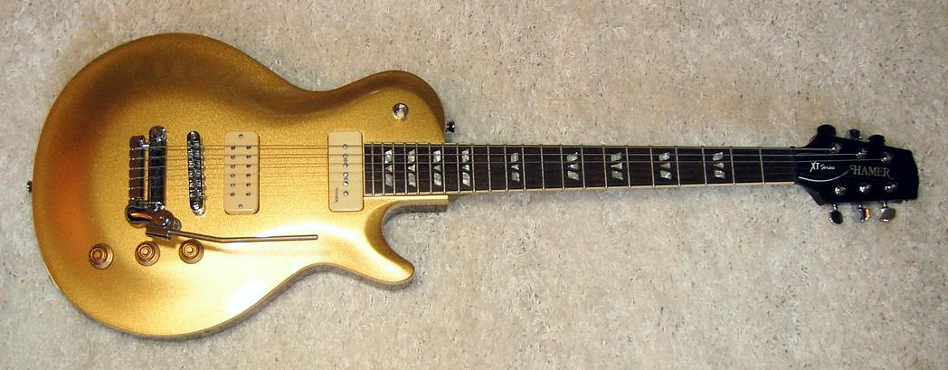 E-Gitarre HAMER XT Goldtop Custom