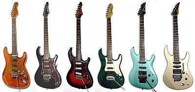 Stratocaster style E-Gitarren