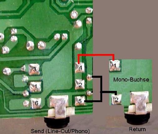 Schaltung für einen Send-/Return-Weg im VOX VT-50 Amp als PDF